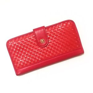 Vintage bright red woven-front 1980s pocket book